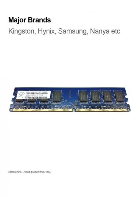 2GB PC2-6400 DDR2-800MHz 240-Pin 2Rx8 Major Brands