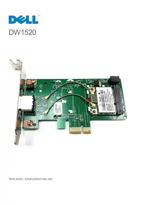 Dell DW1520 Low Profile 802.11b/g/n PCI-e Wireless Card 08VP82
