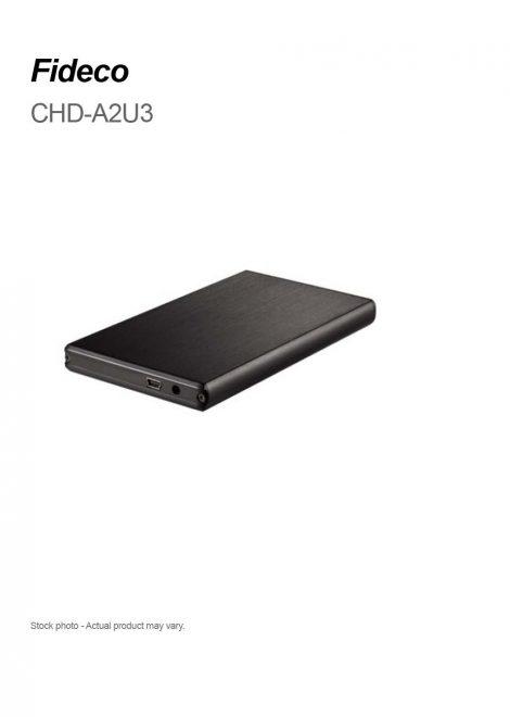 "Fideco 2.5"" USB 3.0 SATA Hard Drive Enclosure"
