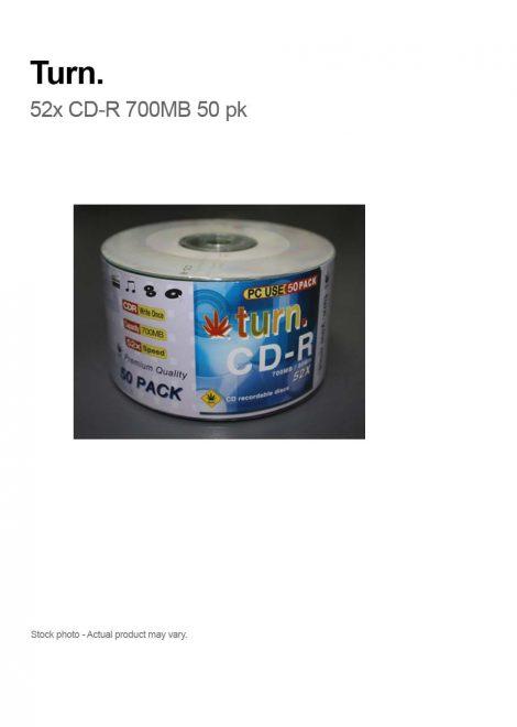 Turn 52x CD-R Silver 80min 700 MB 50 PCS
