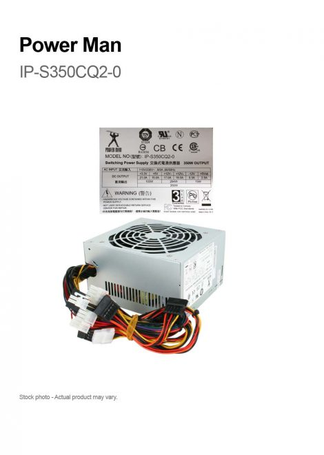 Power Man IP-S350CQ2-0 350W Switching Power Supply