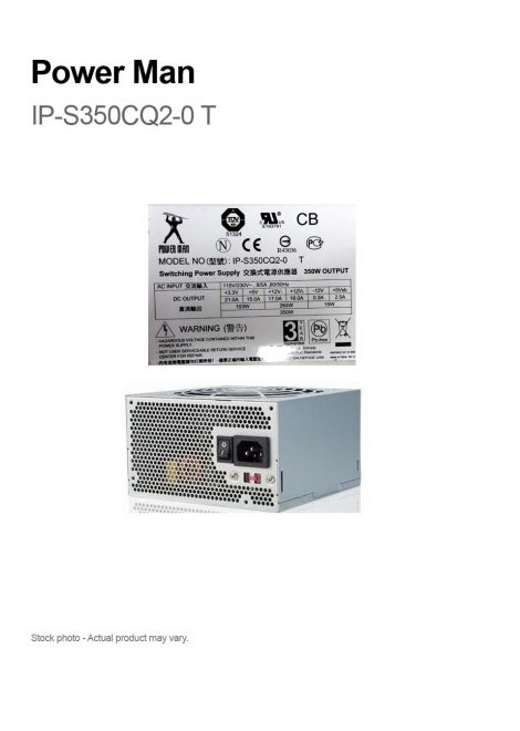 Power Man IP-S350CQ2-0 T 350W Switching Power Supply