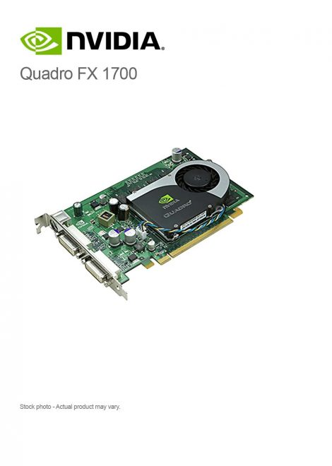 NVIDIA Quadro FX 1700 512MB PCI-e x16 graphics board
