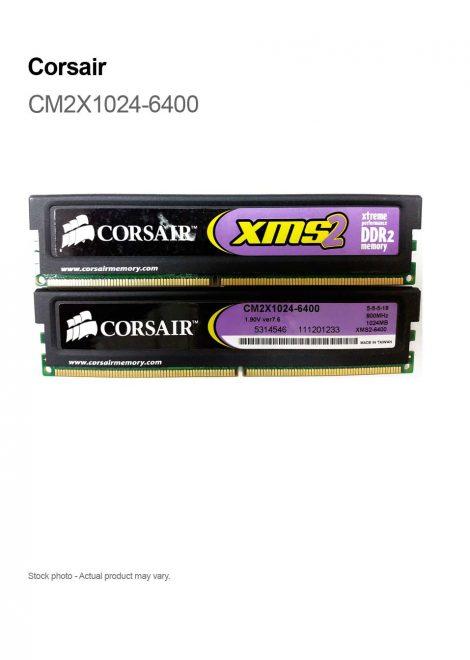 Corsair XMS2-6400 2GB (2 X 1GB) DDR2 800MHz PC2 240-pin