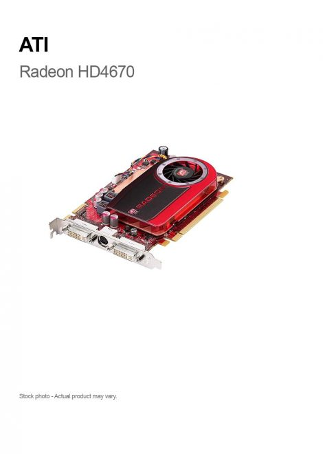ATI Radeon HD4670 512MB DVI/OV/DVI PCIe Video Card ATI-102-B66603(B)