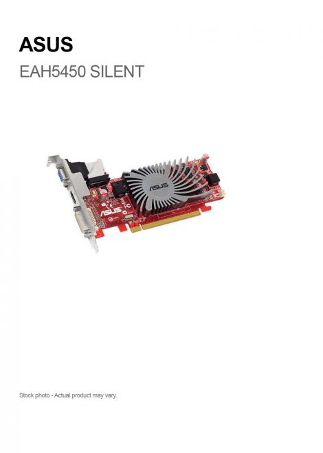 ASUS Radeon EAH5450 SILENT 1GB DDR3 PCI-e HDMI/DVI-I/VGA