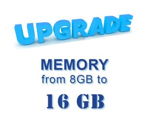 Upgrade: Memory from 8 GB to 16 GB
