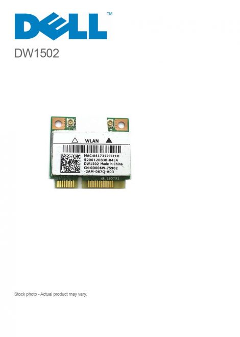 Dell DW1502 Draft N Wireless WiFi 802.11 a/b/g/n Mini-PCI Express Card