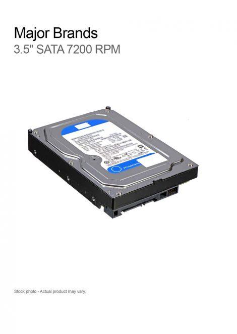 "Major Brands 3.5"" SATA 7200RPM 3Gbps"