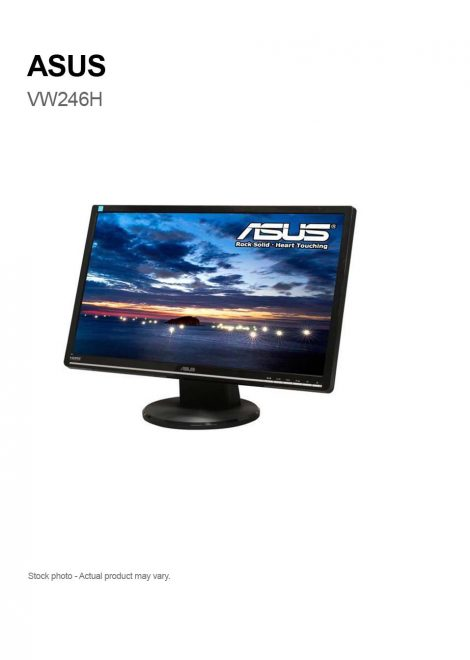 "ASUS VW246H 24"" LED Monitor Full HD 1080p HDMI"